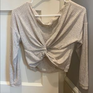 Free People cropped ballerina top